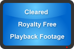 Cleared Royalty Free Playback Footage