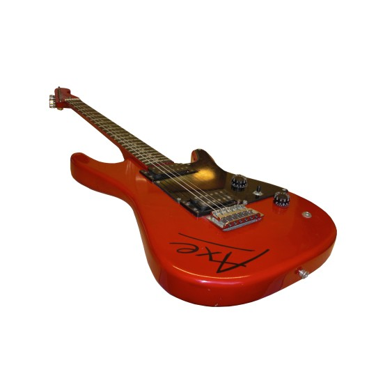 prop hire red 39 axe 39 electric guitar. Black Bedroom Furniture Sets. Home Design Ideas