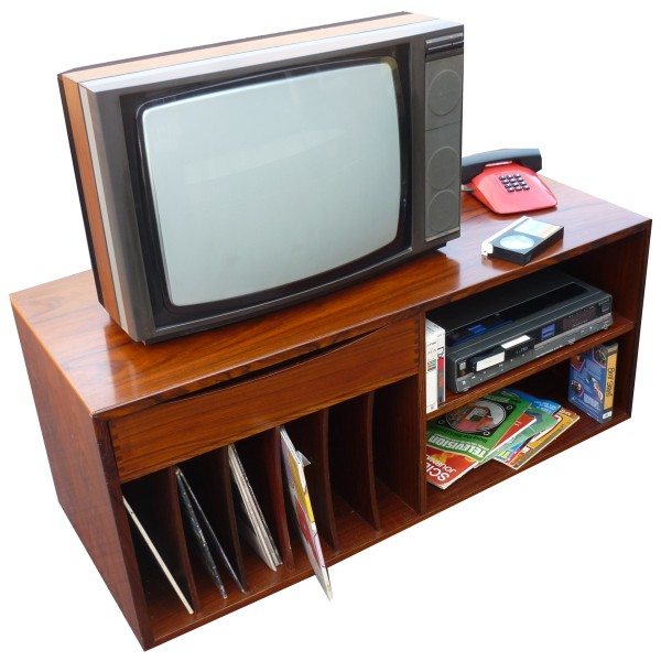 TV, Phone and Sony Betamax Video Recorder Set-up