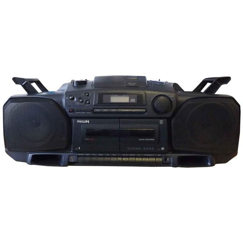 Prop Hire Philips Az8304 Turbo Bass Cd Radio Cassette Boombox