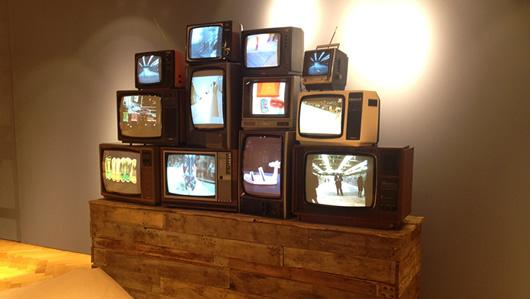 Prop Hire Tommy Hilfiger Vintage Tv Wall Display