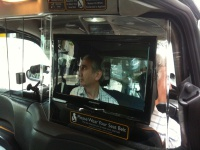 Ray on the Taxi LCD Screen Hire