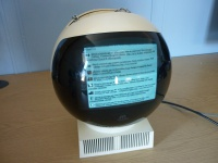 JVC Video Sphere TV Showing a Twitter Feed Hire