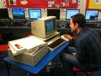 Matt Baker with our BBC Domesday System Hire