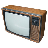 TV & Video Props Ferguson Colourstar TX 3765B Wooden Case Television