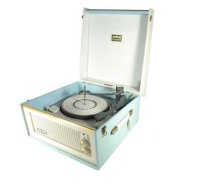 Dansette Bermuda MK1 Record Player- Baby Blue & White Hire