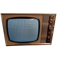 "TV & Video Props ITT-KB - KV205 - 18"" Wooden Case TV"