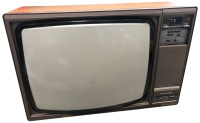 "TV & Video Props Philips 26"" Wooden Case Television with Teletext Printer"