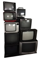 Retro TV Stacks Cherry (The Big Stack of Tellies)