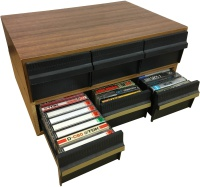 Cassette Drawers - Wood Effect - With Tapes Hire