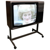 "TV & Video Props Philips 22"" (22CS3040) Wooden Case Television on Stand"