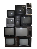 Retro TV Stacks Shelly (The Big Stack of Tellies)