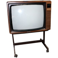 TV & Video Props Grundig Super Color - Wood Effect TV