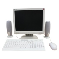 Office Screens and keyboard setup (White LCD) Hire