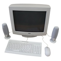 Office Screens and keyboard setup (White CRT) Hire