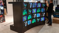 CRT Video Wall for Shop Installations