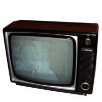 Ferguson 3840 - Wood Effect Portable TV Hire