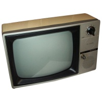 TV & Video Props Sony TV124UB Black & White Television