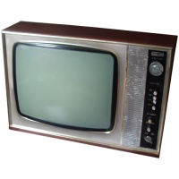 "TV & Video Props ITT-KB 14"" Wooden Case TV"