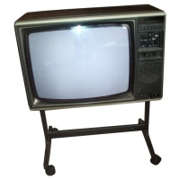 TV & Video Props Mitsubishi Colour Wooden Case TV Receiver