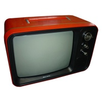 TV & Video Props Hitachi Red Portable TV - F-54G-311