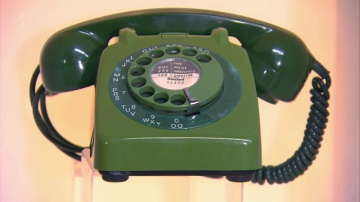 Green Rotary Telephone