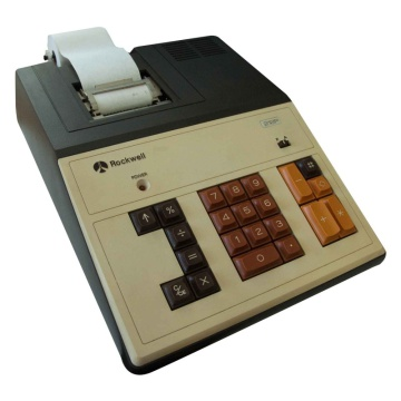 Rockwell Electric Printing Calculator 212P