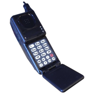 Black Motorola Brick Mobile Phone