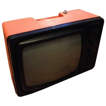 Hitachi P-20 Orange Portable Television