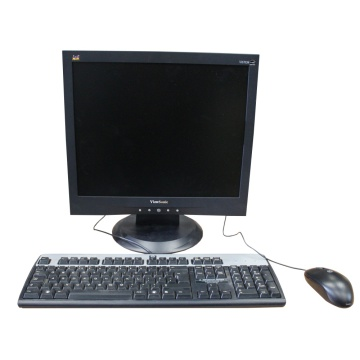 Office Screens and keyboard setup (Black LCD)