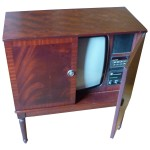 Picture of Dynatron Wooden Television with Doors